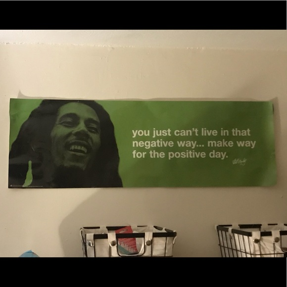 Other Bob Marley 3x1ft Poster Negative Way Positive Day Poshmark